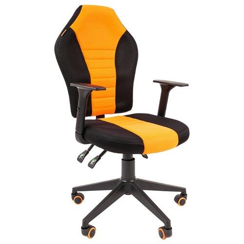 Фото - Компьютерное кресло Chairman GAME 8 игровое, обивка: текстиль, цвет: черный/оранжевый дутики для девочки biki цвет черный a b23 33 c размер 34