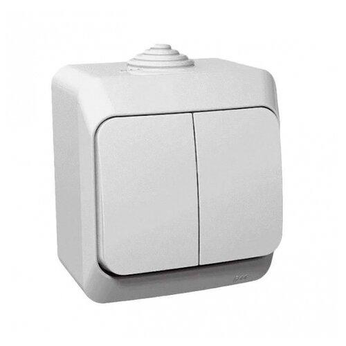 Выключатель 2х1-полюсный Schneider Electric BA10-042B,10А, белый выключатель 2х1 полюсный schneider electric sedna sdn0300321 10а белый