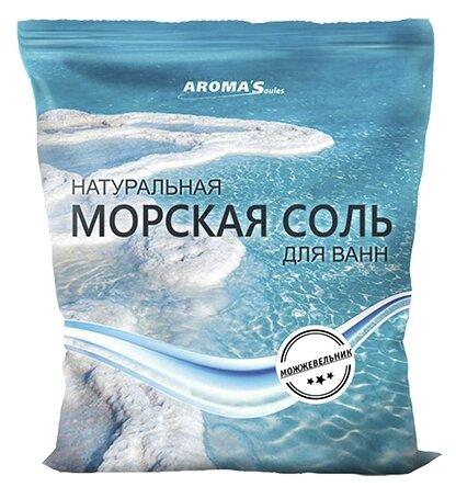 AROMA'Saules Натуральная морская соль для ванн Можжевельник,