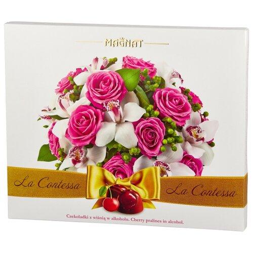Набор конфет Magnat La Dolce Contessa пралине из темного шоколада с вишневым ликером 205 г magnat vector 205
