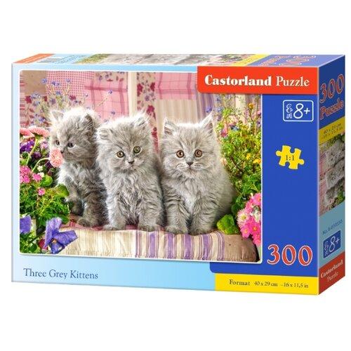 Купить Пазл Castorland Three Grey Kittens (В-030330), 300 дет., Пазлы