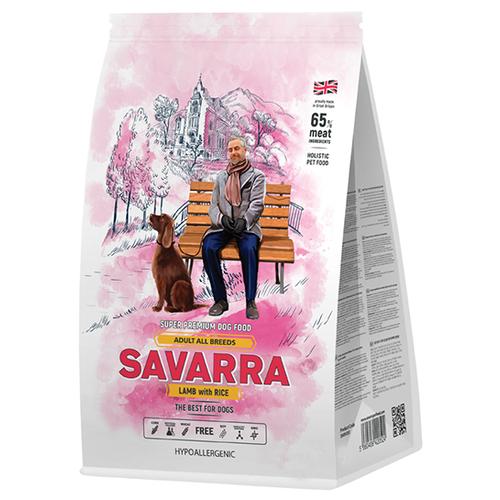 Фото - Сухой корм для собак SAVARRA ягненок, с рисом 3 кг сухой корм для щенков savarra индейка с рисом 3 кг