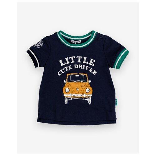 Футболка Gulliver Baby размер 92, синий платье gulliver baby размер 92 синий