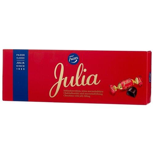 Набор конфет Fazer Julia с мармеладом 320 г красный/синий