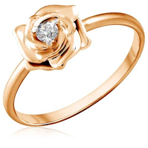 Бронницкий Ювелир Кольцо из красного золота Д0268-8-010005, размер 17 бронницкий ювелир кольцо из красного золота д0268 017060 размер 17