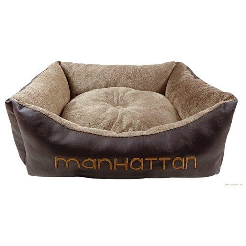 Лежак для собак и кошек Fauna International Manhattan S 50х40х14 см коричневый / бежевый лежак для кошек для собак зоо фортуна чай 2 м 271 80х50х8 см бежевый коричневый