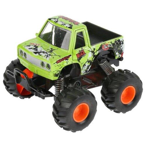 Купить Монстр-трак ТЕХНОПАРК W7733-144 11.5 см зеленый, Машинки и техника