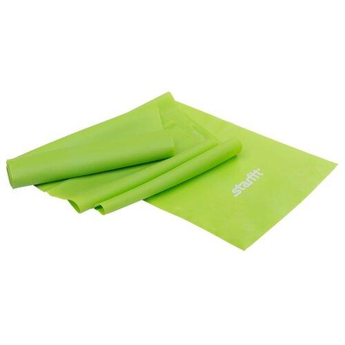 Эспандер лента Starfit ES-201 (1200х150х0.35 мм) 120 х 15 см зеленый эспандер лента starfit es 201 1200х150х0 45 мм 120 х 15 см синий
