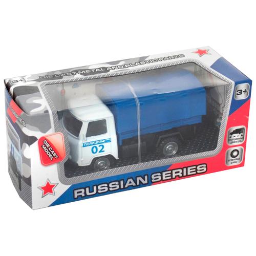 Купить Грузовик Kaiyu для перевозки личного состава полиции (1501223) 12 см синий/белый, Машинки и техника