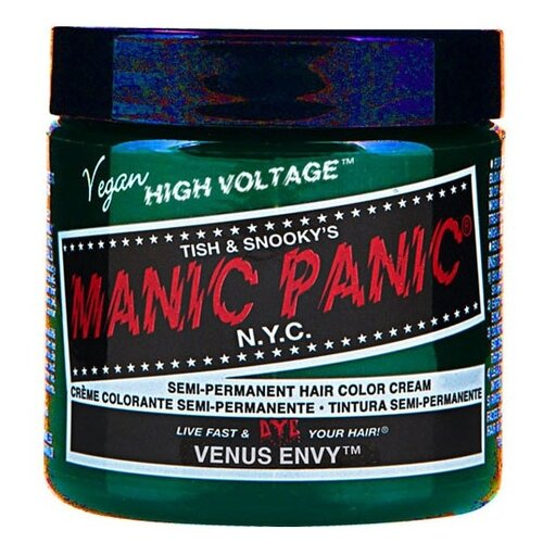 Manic Panic High Voltage Classic Cream Formula Hair Color, venus envy, 118 мл manic panic semi permanent hair color cream cherry blossoms pink hair care light pink sharon hair dyeing 17 59 fl oz 500ml