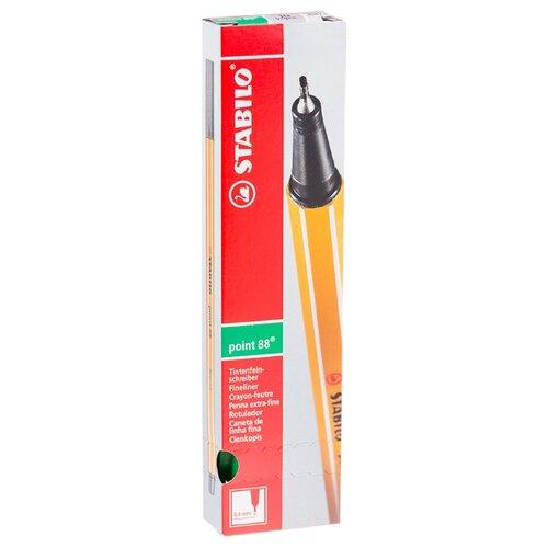 Купить STABILO Набор капиллярных ручек Point 88 0.4 мм, 10 шт., зеленый цвет чернил, Ручки