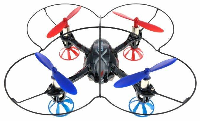 Квадрокоптер WL Toys V343 синий/красный фото 1