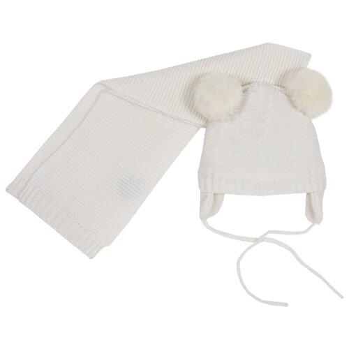 Комплект Chicco размер 004, белый шапка chicco размер 004 розовый