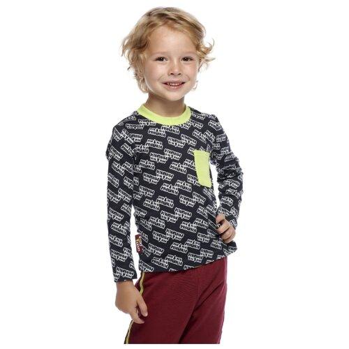 Купить Лонгслив lucky child размер 30 (110-116), серый, Футболки и майки