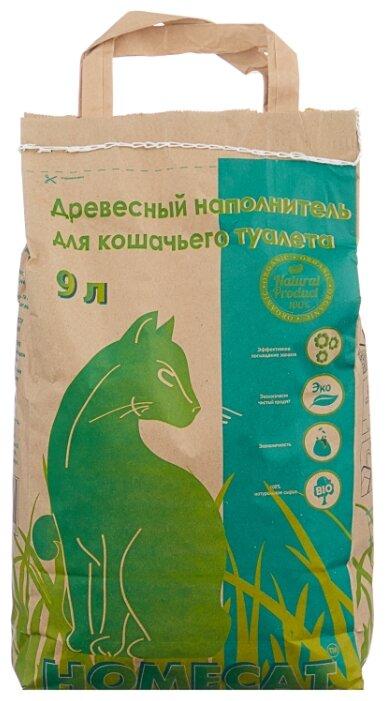 Впитывающий наполнитель Homecat Древесный мелкие гранулы 3кг/9 л