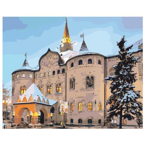 Достопримечательности Нижнего Новгорода Раскраска картина по номерам на холсте ZPLA03v2 40х50