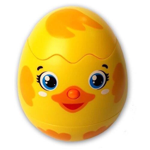 Купить Развивающая игрушка Азбукварик Яйцо-сюрприз Утёнок желтый, Развивающие игрушки