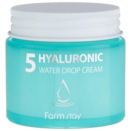 Farmstay Hyaluronic 5 Water Drop Cream Крем для лица с 5 видами гиалуроновой кислоты, 80 мл utena лосьон молочко simple balance 3в1 с эффектом uv защиты spf 5 с тремя видами гиалуроновой кислоты 200 мл
