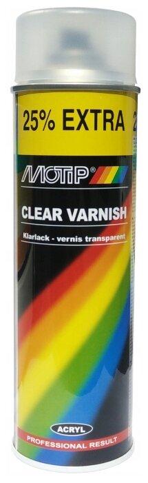 Аэрозольный автомобильный лак MOTIP Clear Varnish
