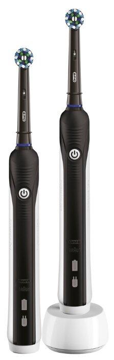 Купить Электрическая зубная щетка Oral-B Pro 1 - 790 DUO, черный по низкой цене с доставкой из Яндекс.Маркета (бывший Беру) - Самая желанная техника
