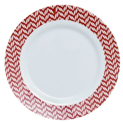 Luminarc Тарелка десертная Battuto 19 см J7553 белый/красный luminarc тарелка десертная lavender 19 см белый