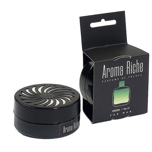 Автолидер Ароматизатор для автомобиля, Aroma Riche мужской, Green №11 50 г