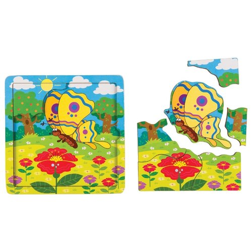 Фото - Рамка-вкладыш Step puzzle Baby Step Бабочка (89066), 7 дет. рамка вкладыш step puzzle baby step мышонок 89069 7 дет