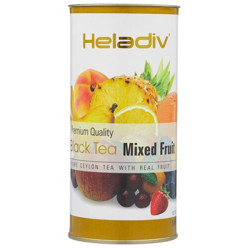 Чай черный Heladiv Premium Quality Black Tea Mixed Fruit, 100 г