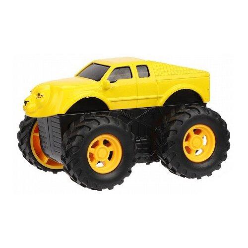 Купить Машинка Пламенный мотор ЗвероТрак Лев (870395) 9 см желтый, Машинки и техника