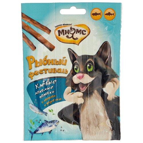 Лакомство для кошек Мнямс Лакомые палочки Рыбный фестиваль, 4г х 3шт. в уп. 12 г