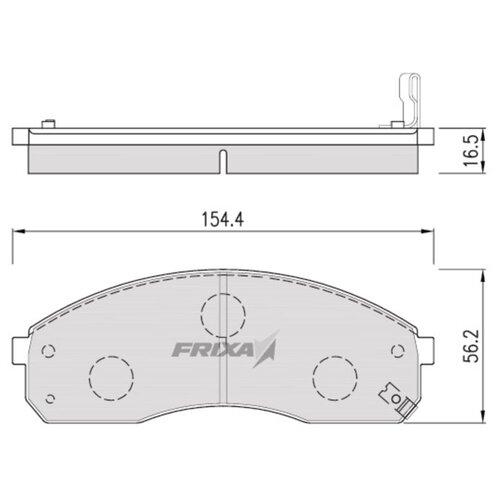 Фото - Дисковые тормозные колодки передние Frixa FPK10N для Kia Pregio, Kia Carnival (4 шт.) дисковые тормозные колодки передние frixa fpe019 для toyota camry 4 шт