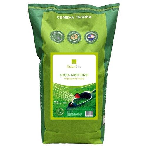 цена на Смесь семян ГазонCity Мятлик 100% Партерный газон, 7.5 кг