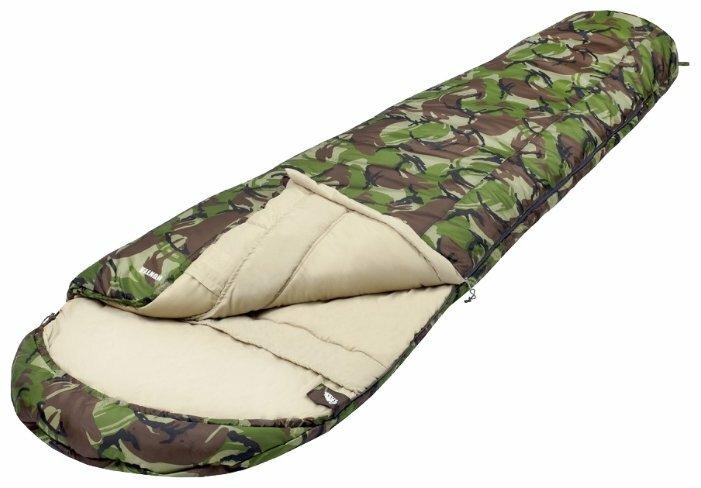 Спальный мешок TREK PLANET Hunter камуфляж с левой стороны