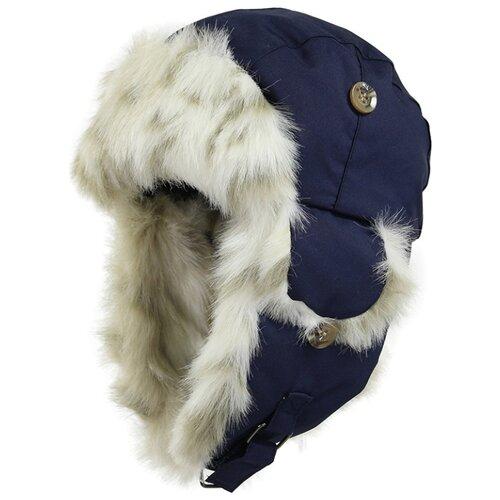 Ушанка Huppa размер 47, 055 темно-синий куртка huppa isla 17820020 размер 116 73320 white pattern gray