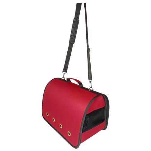 Сумка-переноска для кошек и собак LOORI Z8531 46х28х29 см красный