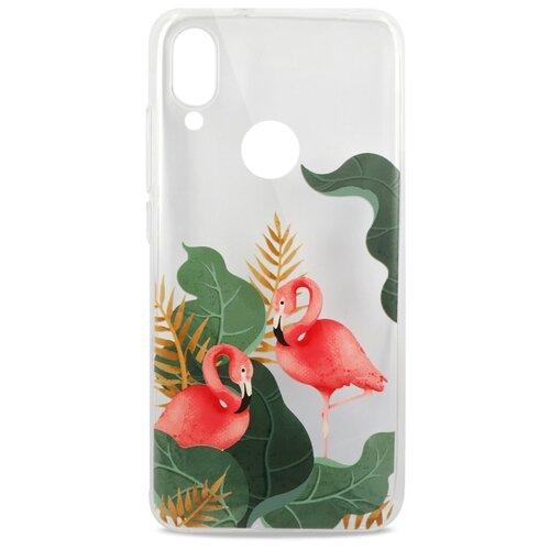 Фото - Силиконовый прозрачный чехол для Xiaomi Redmi 7 и Redmi Y3 / Защитный чехол с принтом на Сяоми Редми 7 и Редми У3 / Чехол с Фламинго ультратонкий силиконовый чехол накладка для xiaomi redmi 7 с принтом нежные цветы
