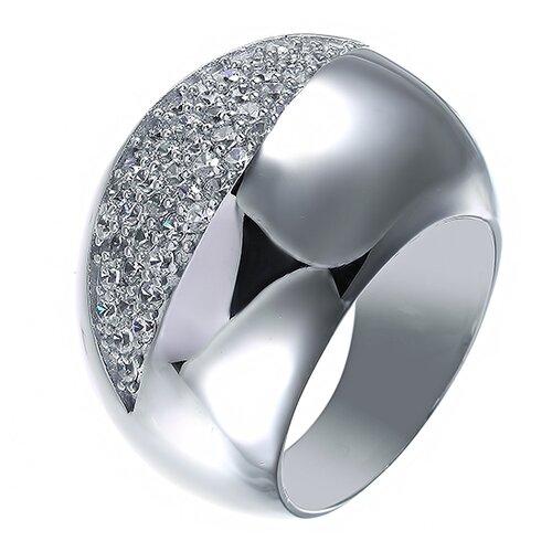 Фото - ELEMENT47 Широкое ювелирное кольцо из серебра 925 пробы с кубическим цирконием JR-2442_001_WG, размер 18 element47 широкое ювелирное кольцо из серебра 925 пробы с кубическим цирконием 05s2azr104804curi 001 wg размер 18