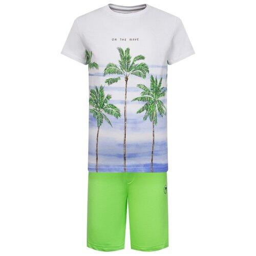 Комплект одежды Mayoral размер 110, белый/зеленый комплект одежды mayoral размер 110 белый зеленый