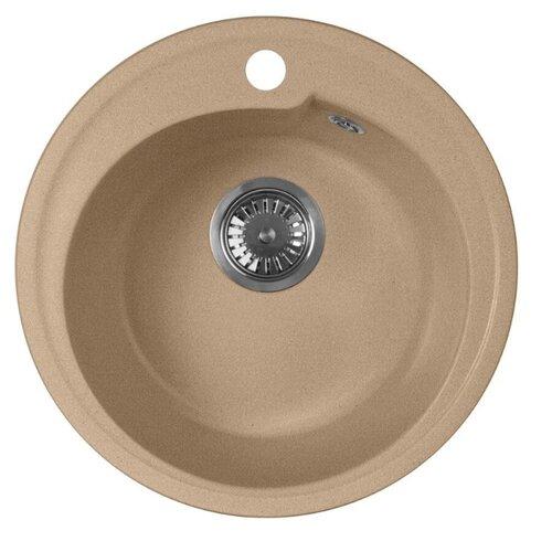 Фото - Врезная кухонная мойка 44 см А-Гранит M-45 песочный врезная кухонная мойка 61 см а гранит m 09 песочный