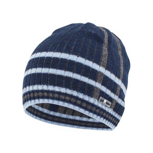 Шапка бини Prikinder размер 50-52, темно-серый/темно-синий шапка r mountain арт ice 8172 темно серый