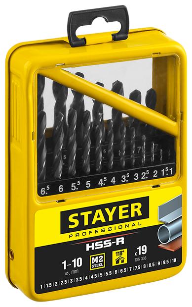 Набор сверл STAYER 29602 H19 M