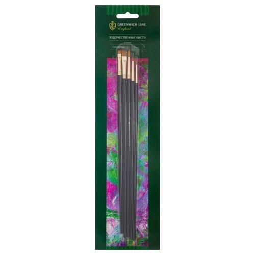 Набор кистей Greenwich Line Эстетика, синтетика, длинная ручка, 5 шт.(AB_15906) набор greenwich line парусник a3 kt 10041