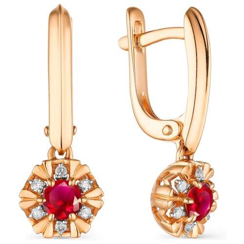 Фото - АЛЬКОР Серьги с рубинами и бриллиантами из красного золота 23503-103 алькор серьги с рубинами и бриллиантами из красного золота 23503 103