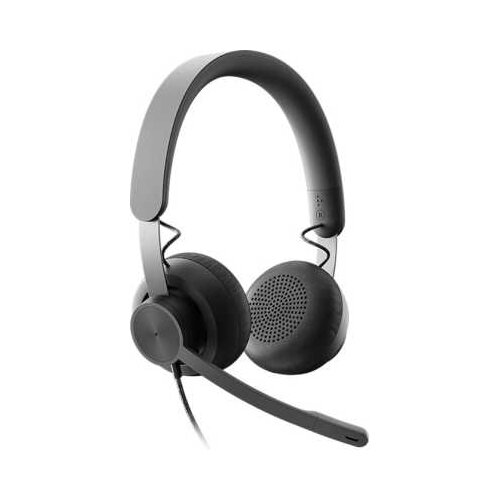 Компьютерная гарнитура Logitech Zone Wired UC graphite гарнитура logitech headset zone wired uc 981 000875 серые