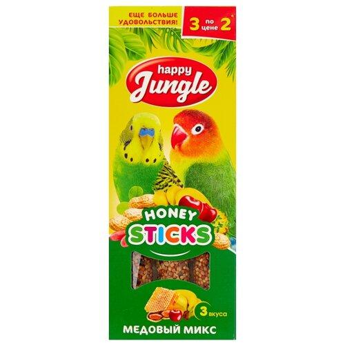 Лакомство для птиц Happy Jungle медовый микс