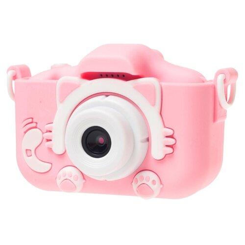 Фото - Фотоаппарат GSMIN Fun Camera Kitty со встроенной памятью и играми розовый фотоаппарат