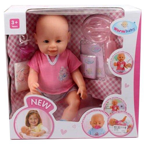 Фото - Интерактивный пупс Warm baby 42 см, 8009-435 интерактивный пупс baby doll