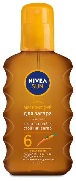 Nivea Sun масло-спрей для загара SPF 6 с каротином