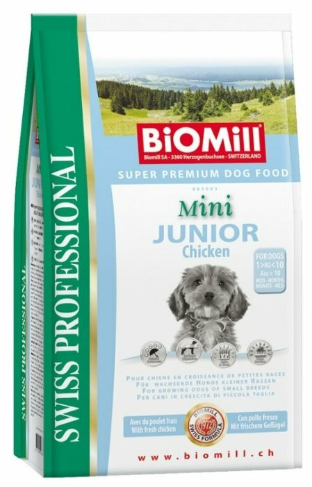 Корм для собак Biomill Swiss Professional Mini Junior Chicken (8 кг)