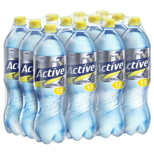 Фото - Вода питьевая Aqua Minerale Active негазированная Цитрус, ПЭТ, 12 шт. по 1 л вода aqua minerale малина 500 мл